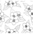 seamless pattern with black and white flowers vector image vector image
