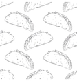Seamless pattern with hand drawn taco Background vector image
