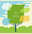 set of speech bubble with tree vector image vector image