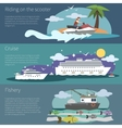 Ship Banner Horizontal vector image