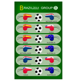 Soccer Tournament of Brazil 2014 Group B vector image vector image