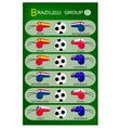 Soccer Tournament of Brazil 2014 Group B vector image