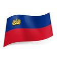 State flag of Liechtenstein vector image vector image