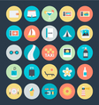 Summer and Travel Colored Icons 4 vector image