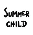 summer child poster vector image vector image