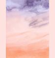 sunset sky purple and orange watercolor vector image