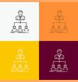 team teamwork organization group company icon vector image