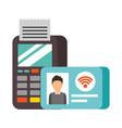 terminal confirms id card nfc payment vector image