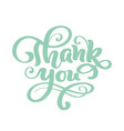 thank you hand drawn text trendy hand lettering vector image vector image