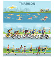 triathlon marathon sport competition race vector image