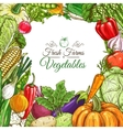 Vegetables poster vegetarian menu design template vector image vector image