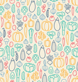 Vintage vegetables pattern vector image vector image