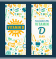 vitamin d day vector image
