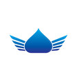 waterdrop wings logo image vector image