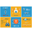 world no smoking day on 31 may posters set vector image vector image