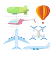 Air Transportation Plane Helicopter and Drone vector image