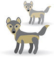 Funny gray wolf on a white background vector image