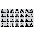 set of geometric marks vector image