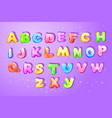 kid alphabet bubble cartoon type letter set vector image
