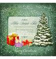 vintage festive invitation vector image