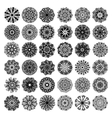 36 black and white circle lace pattern big vector image vector image
