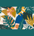 abstract modern tropical paradise collage with vector image vector image