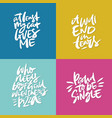 antivalentine lettering quotes vector image vector image