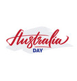australia day typography lettering vector image vector image