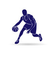 basketball player outline vector image vector image
