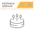 birthday cake line icon vector image