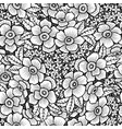 black and white flower vector image vector image