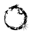 Black dragon vector image vector image