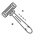 blade shaver icon outline style vector image vector image