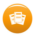 book professor icon orange vector image vector image