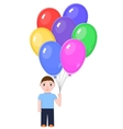 Boy with Colorful balloons vector image vector image