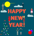 business people celebrate happy new year vector image vector image