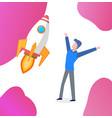 business startup businessman happy worker vector image vector image