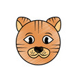 cat pet head cute animal vector image