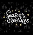 christmas ink hand lettering seasons greetings vector image