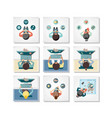 community people with social media icons vector image vector image