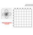 copy jasmine flower with the grid lines vector image vector image