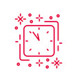 countdown to new year minimal linear icon in red vector image
