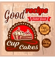 cup cakes labels vector image