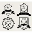 Deer hunting badges vector image vector image