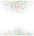 falling colorful tiny confetti pieces vector image vector image