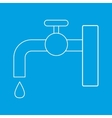 Faucet thin line icon vector image