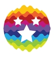 Favourites Rainbow Color Icon for Mobile vector image vector image