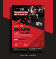 fitness flyer template vector image vector image
