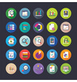 flat icon set of reports and analytics vector image