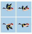 flying european goldfinch animation sprite sheet vector image vector image